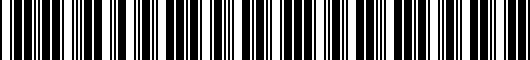 Barcode for PT2084710010